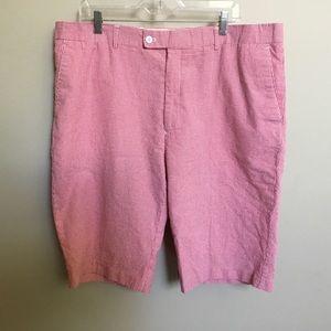 LINEA UOMO red gingham seersucker dress shorts 40